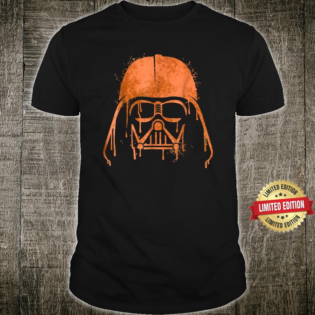 Star Wars Darth Vader Orange Helmet Drip Shirt