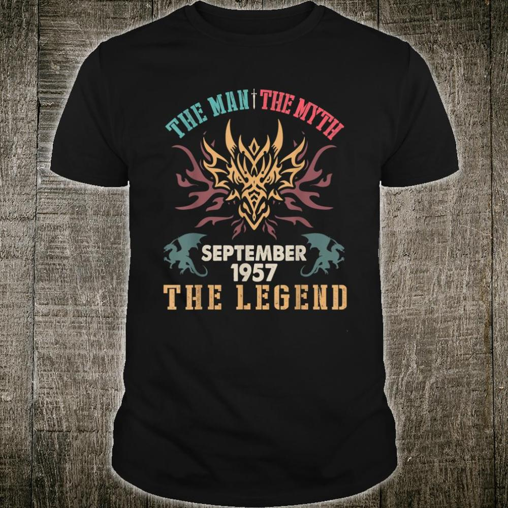 The Man The Myth September 1957 The Legend Happy 63 Years Shirt