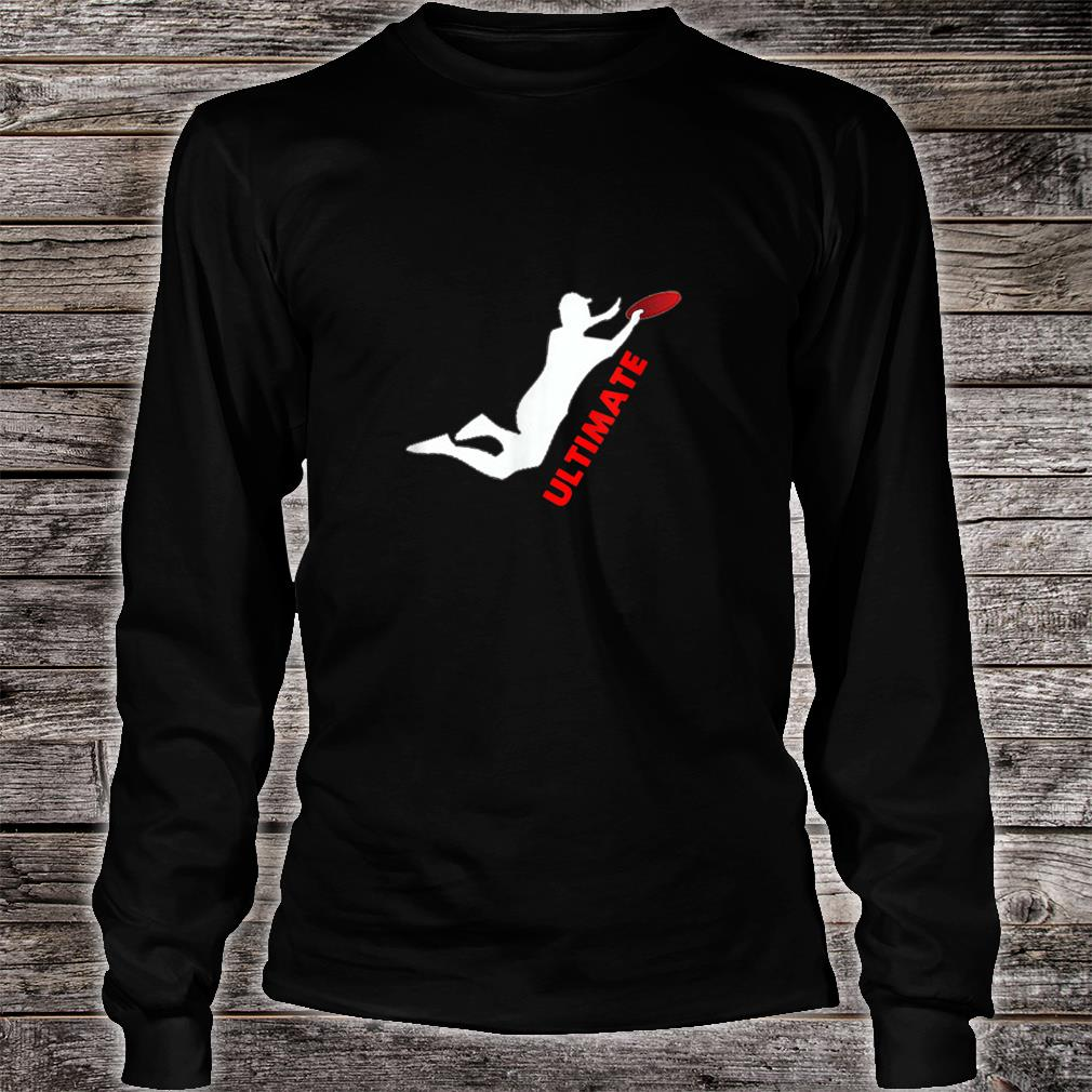 Ultimate Frisbee Silhouette Frisbee Jumping Catch Shirt long sleeved