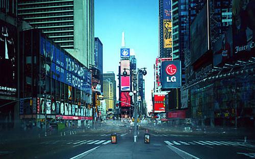 김아타. 온-에어(On-Air) 프로젝트 중. 뉴욕
