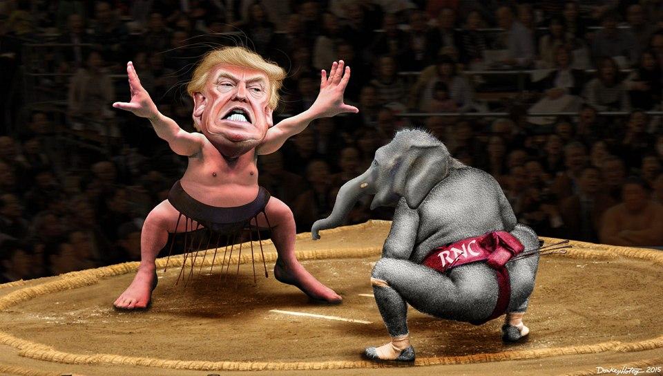 DonkeyHotey, Yokozuna Trump vs. The RNC, CC BY SA https://flic.kr/p/BaUDXD