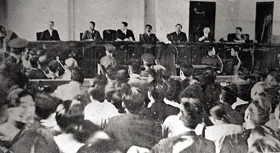 1949년 반민특위 재판 공판 모습.