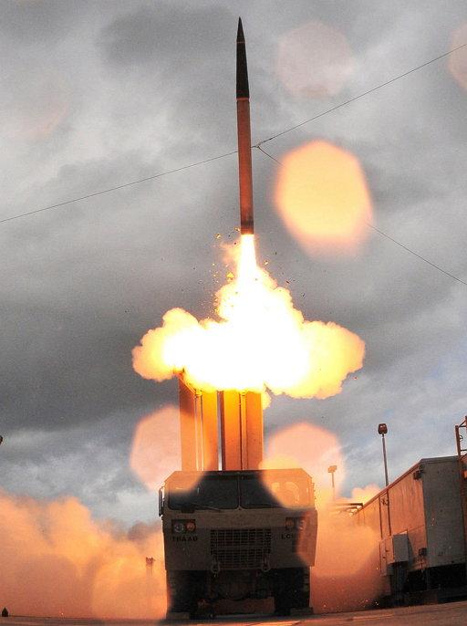 사드 미사일 발사 장면