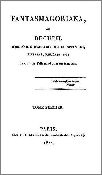 1812년 프랑스어본으로 출간된 독일 괴담집 [판타스마고리아나]