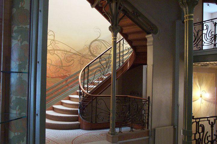 빅토르 오르타가 디자인한 브뤼셀 테셀 호텔 계단,1893년