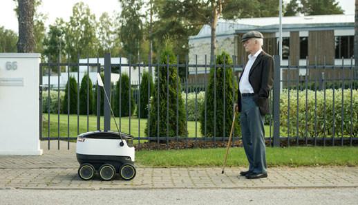 자동 운전 배달 로봇 (출처: 스타쉽 테크놀로지)