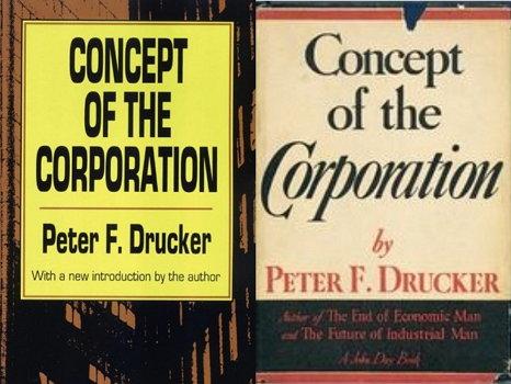 기업의 개념 (피터 드러커, 1946, 사진 오른쪽은 초판본)
