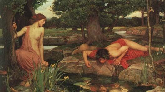 """존 윌리암 워터하우스(John William Waterhouse), """"에코와 나르시서스""""(Echo and Narcissus), 1903"""