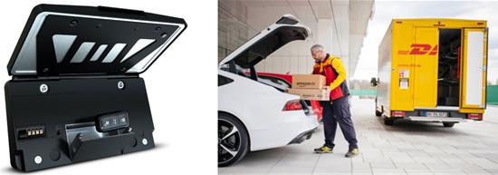 스마트 차량 번호판과 트렁크 배달 서비스 (출처: 프레임)