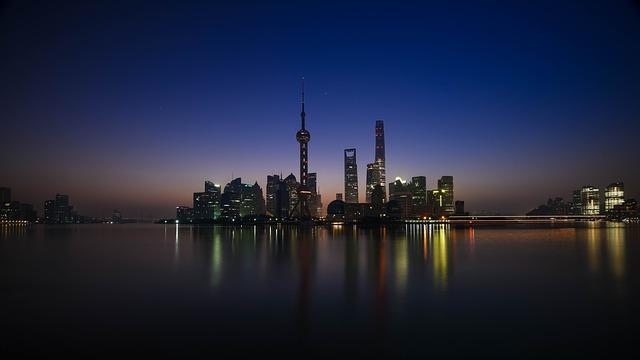 상하이의 야경