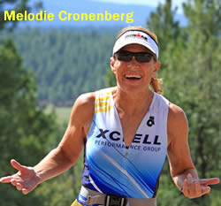 Melodie Cronenberg, competing to become 65-69 women's age group champion in Ironman 70.3 World Championship, Sept. 8, 2013
