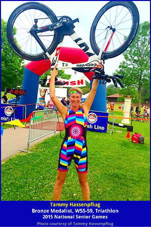 Hassenpflug Celebrates Bronze Medal in NSGA Triathlon