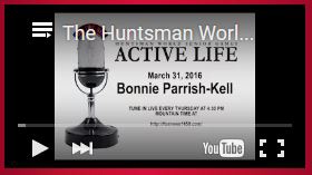 screenshot of Huntsman World Senior Games The Active Life radio show featuring Bonnie Parrish-Kell