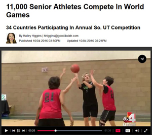 screenshot of Good4Utah's web page of Huntsman World Senior Games story