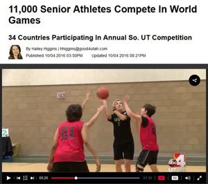 screenshot of Good4Utah's web page of Huntsman World Senior Games story
