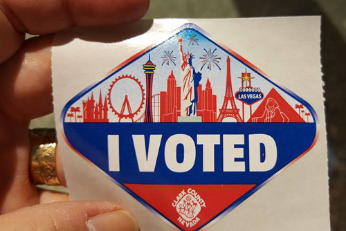 "Clark County ""I Voted"" sticker"