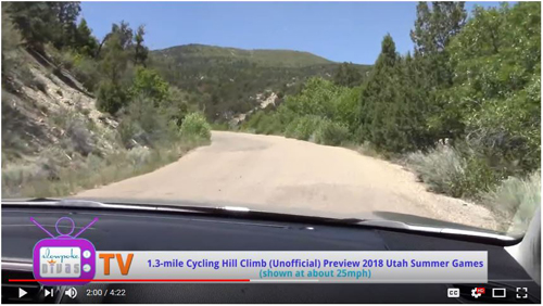 Watch: 1.4-Mile Hill Climb Cycling Course, Utah Summer Games