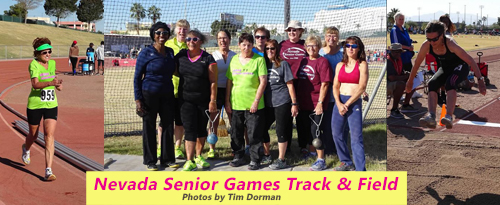 women competing at the 2017 Nevada Senior Games