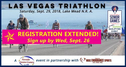 registration extended to Sept 26 for Nevada Senior Games triathlon
