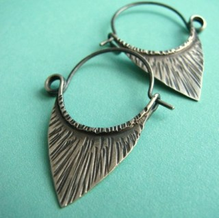 Handmade Sterling Silver Hoop Earrings - Pixie Blades