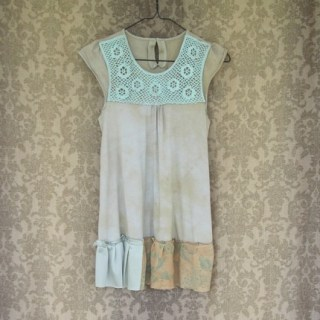 Robins Egg Blue Eco Ruffled Tank / Tunic