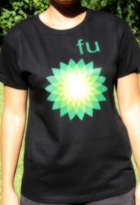 Message to BP - t-shirt for ladies, black size M