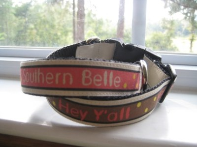 Southern Belle Pink Dog Collar
