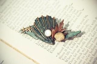 Seashell Brooch Pin