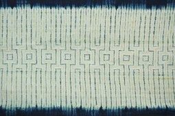 Indigo and myrobalan on linen