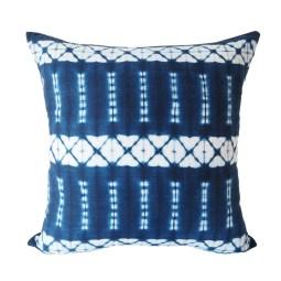 Indigo shibori pillow