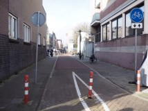 Bollards keep out cars but maintain a critical link making walking and cycling the most convenient option