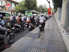 Motorbike on Saigon Sidewalk