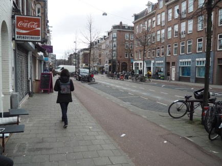 A complete street with modular traffic calming