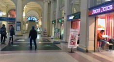 Retail in Waterfront Station.