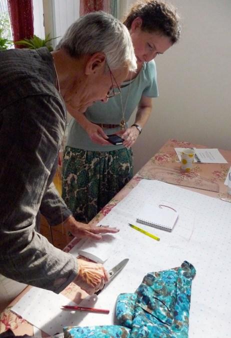 Frances Cowper Pattern Cutting event at Slow Textiles Group