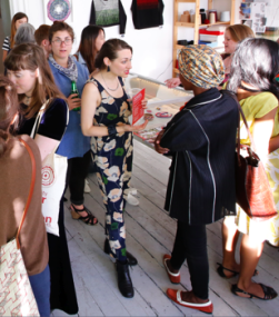 Josey Mendez, Geraldine Peclard, Lea Balducci, Tamaan Sheikh, Tina Francis and Tanvi Kant at Slow Textiles Group event Slow Textiles Group Meet Up (designed, devised and delivered by Emma Neuberg)