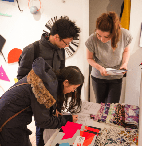 Kelin Yue at The Geometrics, Slow Textiles Group event (designed, devised and delivered by Emma Neuberg)