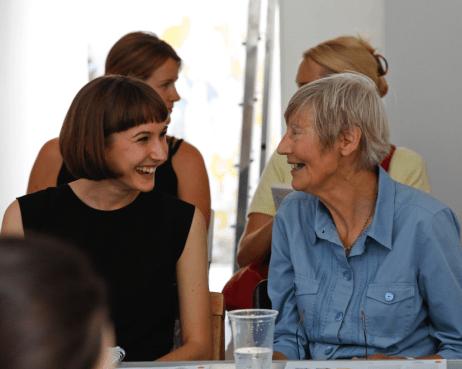 Catherine Harris, June Mendez, Susana Fernandez and Zoe Burt, Slow Textiles Group event (designed, devised and delivered by Emma Neuberg)