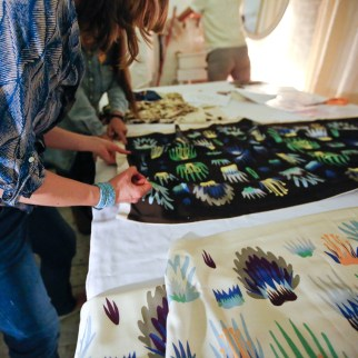 Slow Textiles Group botanical print event (designed, devised and delivered by Emma Neuberg)