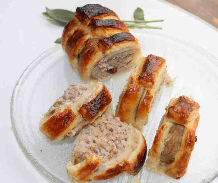 Pork, Apple and Date Sausage Rolls