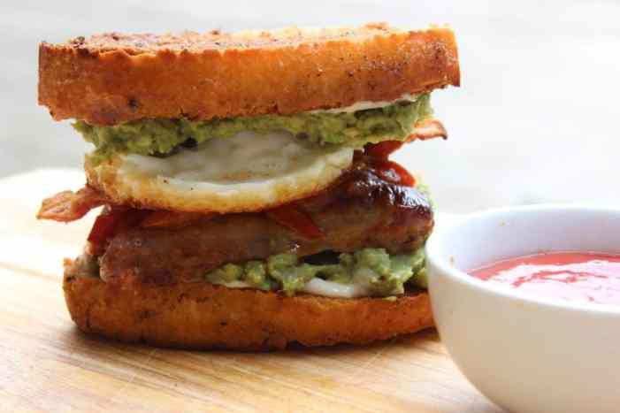 Fried Bread English Breakfast Sandwich