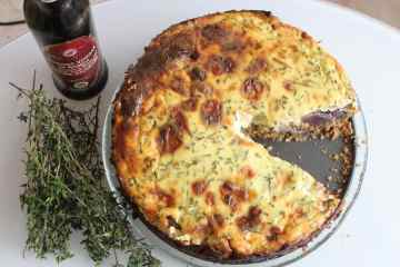 Savoury Cheesecake with Balsamic Red Onions