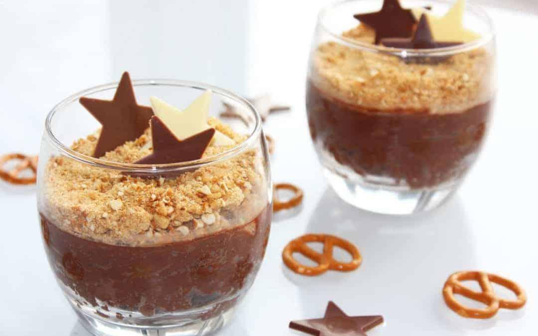 Pretzel Chocolate Pots