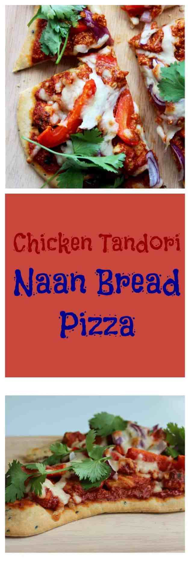This Chicken Tandoori Naan Bread Pizza is super easy to make at home for a great takeaway alternative, packed full of Indian flavours and super easy to prepare