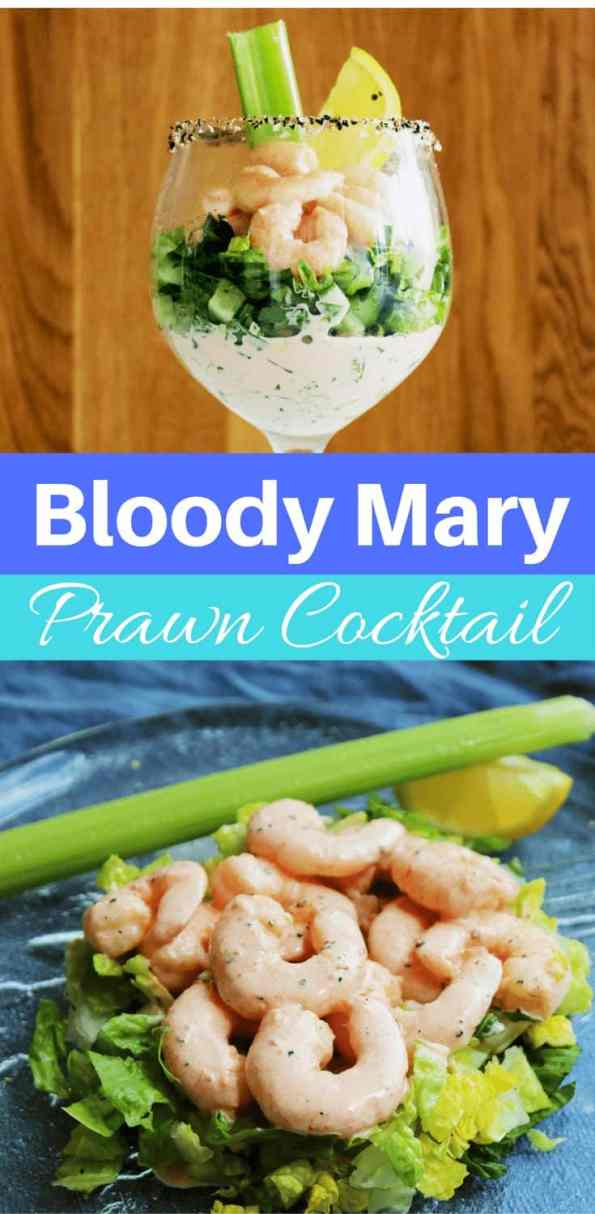 This Bloody Mary Prawn Cocktail is a great appetiser to serve guests at a dinner party. The spicy sauce is to die for and brings this retro recipe into the 21st century! You can substitute the prawns for shrimp. An easy recipe that can be prepped ahead of time and takes just 15 minutes!