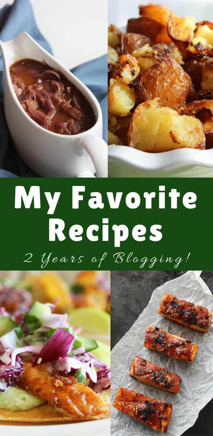 Celebrating two years of food blogging and 100 posts at SlowTheCookDown!  I'm sharing my readers' most favourite recipes, and a few of my personal favourites too!  Two years food blogging | popular recipes | recipe ideas | birthdaycelebrations #twoyearsblogging #favoriterecipes
