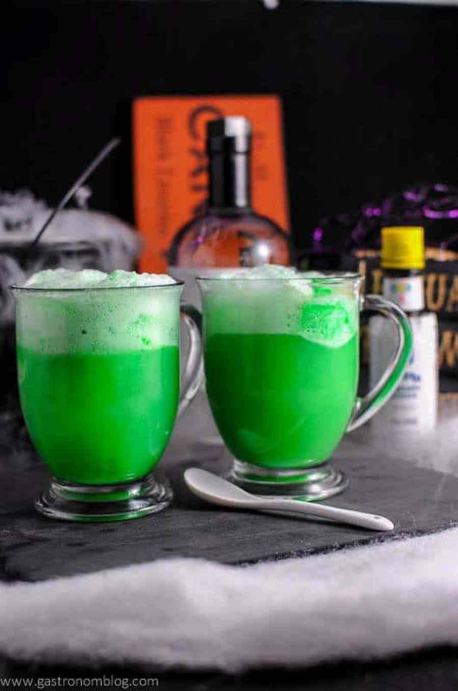 A green poly juice potion cocktail