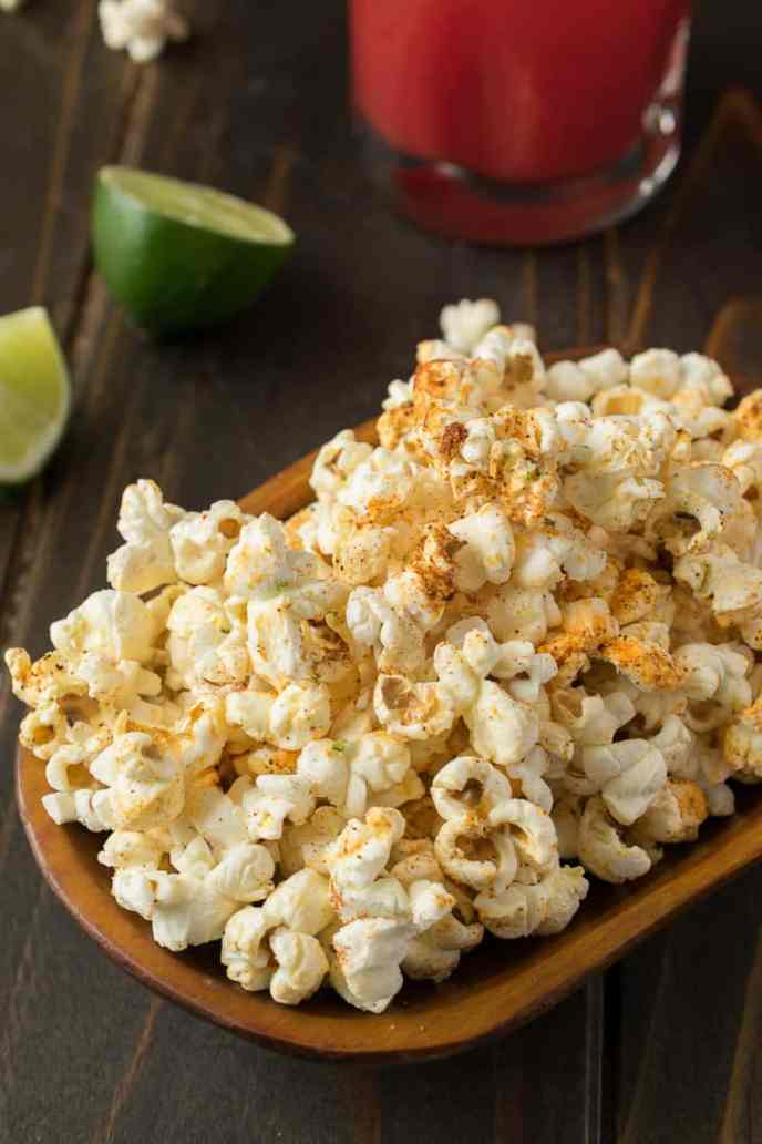 Mexican pop corn on a serving tray