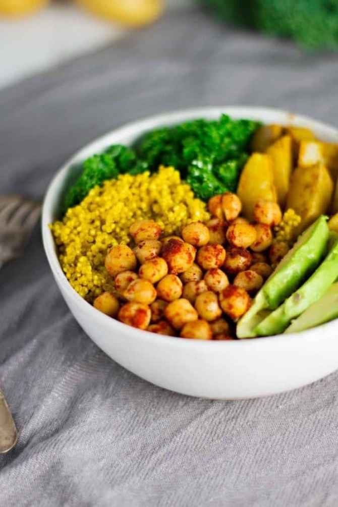 An turmeric power bowl ready to eat