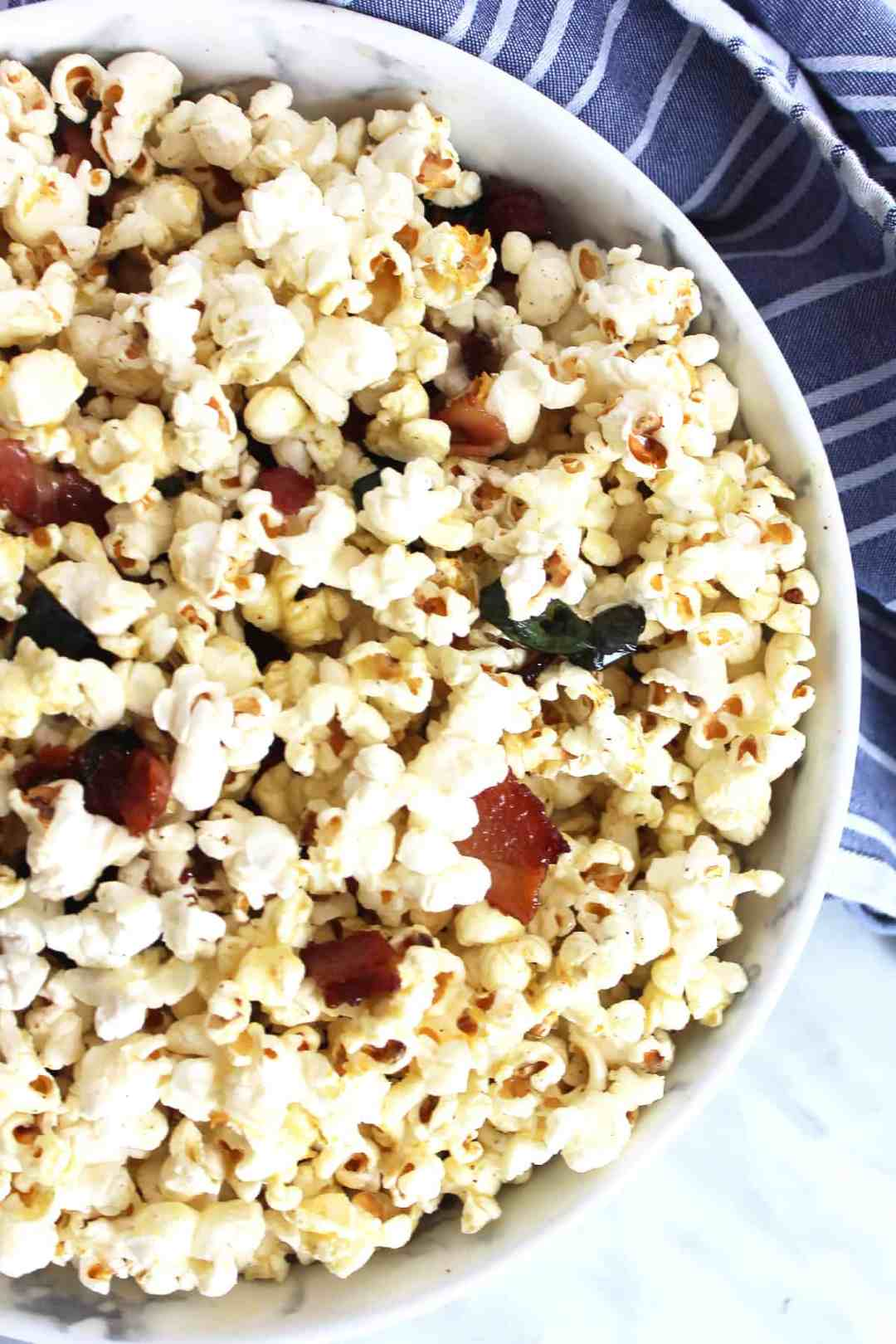 Popcorn with bacon and jalapeno bits